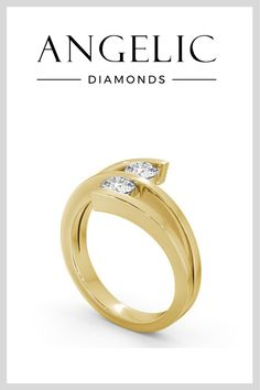 Wedding bands don't have to be boring. This strikingly modern and wonderfully unique gold wedding ring is proof!