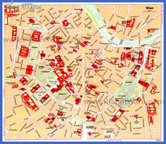 15 Best Vienna printable map of top tourist attractions & city