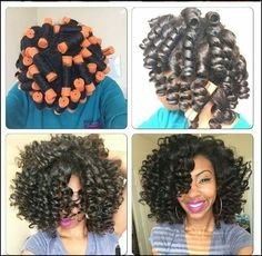 Perm rods. Curls for days. Too cute.