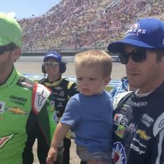 """1,473 Likes, 50 Comments - Kasey Kahne (@kaseykahne) on Instagram: """"Sasquatch was bit much for Tanner during pre race. @dalejr and I were hoping we could all get a pic…"""""""