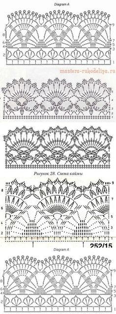 New Crochet Edging Patterns IdeasYou can find Crochet lace and more on our website.New Crochet Edging Patterns Ideas Crochet Edging Patterns, Crochet Lace Edging, Crochet Borders, Crochet Diagram, Filet Crochet, Crochet Designs, Tutorial Crochet, Lace Patterns, Crochet Ideas