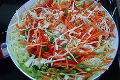 Simple Tragi Salad w/ Lemon Vinaigrette (Iraqi) Asian Appetizers, Appetizer Recipes, Snack Recipes, Veg Spring Rolls, Egg Roll Recipes, Sandwich Recipes, Lucky Food, Vegan Meatloaf, Lemon Vinaigrette