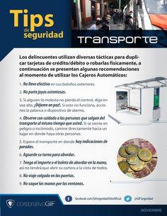 Tips de #seguridad transporte público