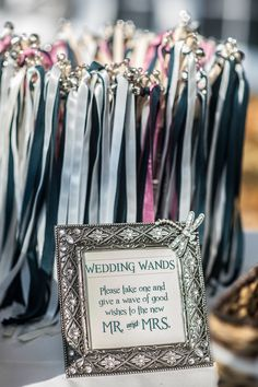 Johanna did this for her wedding, it was a great idea really fun and pretty, not to mention eco-friendly!