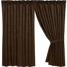 "Delectably Yours Decor Tooled Faux Leather Curtain Panels 48"" x 84 by HiEnd Accents"