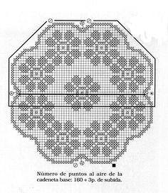 Bellissimi centrini (trittico) all'uncinetto