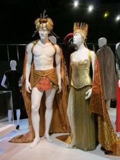 "Costumes for Kellan Lutz and Isabel Lucas by Eiko Ishinoka for ""The Immortals"""