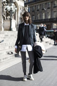Paris Fashion Week Style Fashion Moda PFW heelsandpeplum adidas Stan Smith effortless style