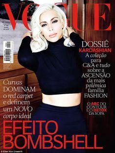 Kim Kardashian plays Marilyn Monroe on Vogue Brasil covers | Daily Mail Online