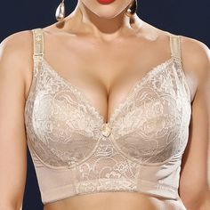 Sexy H Cup Front Closure Gather Embroidery Plus Size Push Up Thin Bra By Newchic - NewChic Mobile Plus Size Bra, Laos People, Bra Straps, Lingerie Collection, Lingerie Sleepwear, Cotton Lace, Lace Bra, Coupon, Sexy