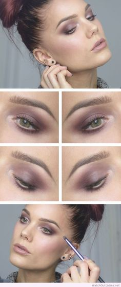 Linda Hallberg interesting makeup for green eyes