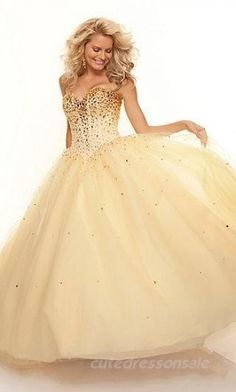 Champagne Sweetheart Prom Dresses Long Ball Gown Prom Dresses 05494