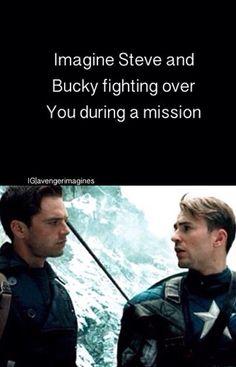 Steve and Bucky imagine.