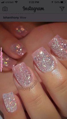 Acrylic Nail Designs Glitter Idea pin ramani on nails page in 2020 pink glitter nails Acrylic Nail Designs Glitter. Here is Acrylic Nail Designs Glitter Idea for you. Gorgeous Nails, Pretty Nails, Pretty Nail Colors, Fabulous Nails, Perfect Nails, Gem Nail Designs, Sparkle Nail Designs, Pedicure Designs, White Toenail Designs