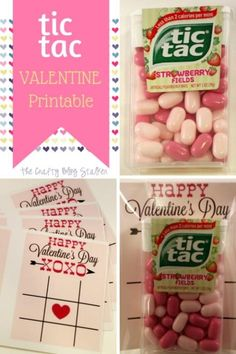 tic tac Valentine Printable