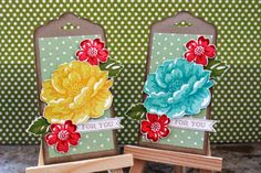 So pretty! Love this tag punch and Stippled Blossom set- Bianca Madrid made these- she's done so many great things with this set