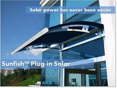 A solar panel that is installed as an awning over a patio or doorway ... easy to install, and no crawling around on the roof!   There's a company doing something similar with greenhouses with solar panel roof glass so they help power your house ...