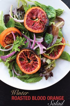 Winter Roasted Blood Orange Salad | The Collegiate Vegan