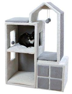 """Домик для кошки Trixie """"Gala"""" (цвет: белый/серый), 105 см   Купить с доставкой   My-shop.ru"""