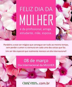 8 de março, Dia Internacional da MULHER.