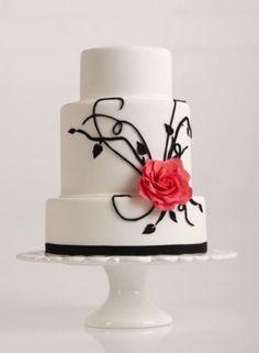Sugar Rush simple beautifully done wedding cake
