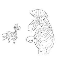 Cahier de coloriage Caprices Animaux de la savane - 60 pages