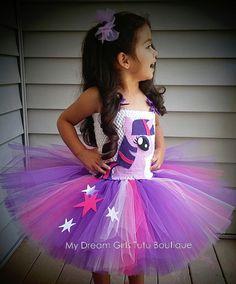 Vestido tutu princesa Twilight Sparkle MLP Crepúsculo chispa