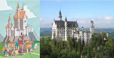 Elys's illustrations of Castle Crackpot were inspired by Neuschwanstein Castle