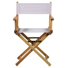Casual Home Folding Director Chair Fabric Color: Tangerine, Frame Color: Honey Oak Chair Fabric, Director's Chair, Outdoor Chairs, Outdoor Decor, Wood Dust, Yellow And Brown, Orange Yellow, Built In Storage, Folding Chair