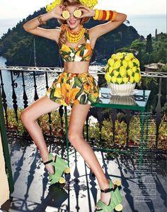 Vogue Japan  June 2012  Photographer: Pierpaolo Ferrari  Model: Maryna Linchuk   Stylist: Giovanna Battaglia