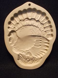 Brown Bag Cookie Mold TURKEY 1996 Hill Design THANKSGIVING Paper Art