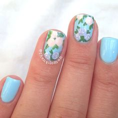 10 Pretty Floral Nails DIY Tutorials  Inspiration
