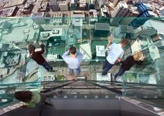 104th floor at the outer wall of Willis Tower