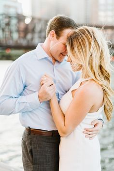Sweet & Stylish Engagement Photos at the Seaport District in Boston   Style Me Pretty Feature   Annmarie Swift Photography
