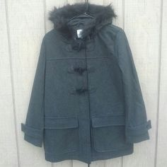 Old Navy Faux Fur Coat Dark gray warm coat from old navy. Size small. Made in Vietnam. Old Navy Jackets & Coats