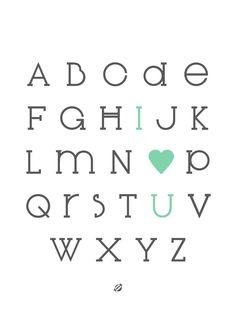 LostBumblebee ©2013 IOU Alphabet- #freeprintable Personal use only