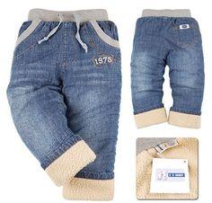 Теплые зимние джинсы для мальчиков и девочек