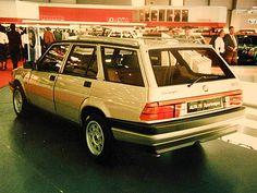 Alfa 75 Sport Wagon, prototipo presentato al Salone di Ginevra, vista posteriore