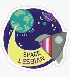 Space Lesbian - Pink Variant Sticker