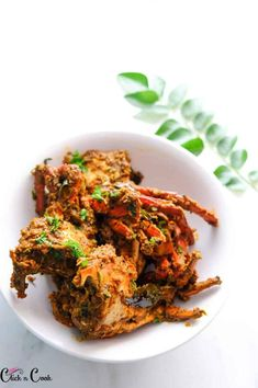 """This Crab Pepper Masala is AMAZING! with layers of flavor that you will be obsessed with. The freshly ground pepper masala gives you an earthy, mesmerizing taste with the right punch of heat. Crab pepper masala is a simple, homestyle crab fry, we call """"Nadu Varuval"""". They are relatively simple to prepare, extremely flavourful and the pepper masala perfectly pairs with crab, that meld well with intricate flavors that does all the heavy lifting to this Chettinad crab."""