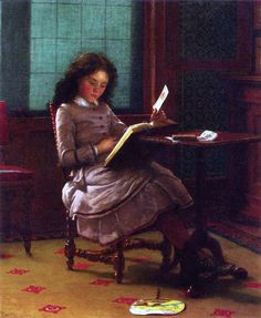 "Seymour Joseph Guy, ""Young Girl Reading"""