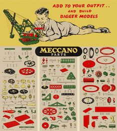 How I became a meccano Enthusiast -- I had the British version with lorry manual, etc.... HAD http://www.numberonemusic.com/pimzond