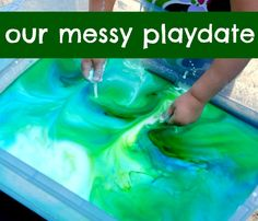 The Iowa Farmer's Wife: Outdoor Messy Playdate.  Tons of awesome outdoor sensory ideas in a single play date.  Really cool.