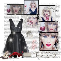A fashion look from December 2014 featuring short front long back dresses, high heel pumps and crystal clutches. Browse and shop related looks. Taylor Swift Costume, Long Back Dress, Create A Book Cover, Blank Space, Signature Look, Different Dresses, Rebecca Taylor, Red Lipsticks, Fall 2015