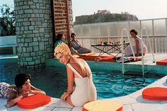 Slim Aarons, _Penthouse Pool_, photography