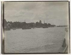 Gezicht op Dordrecht en de Merwede, anoniem, ca. 1900