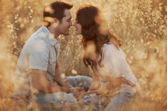 Romantic engagement picture