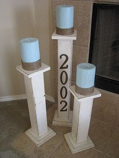 How cute are these?!  They would also look great on a front porch with the house number on one. :)
