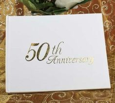 50th Wedding Anniversary Guest Registry Book