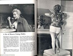 Balanced: Marilyn often treated herself to a hot fudge Sunday after a long day of work...